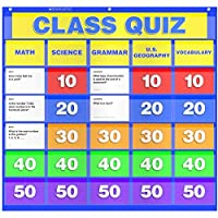 Scholastic TF-5116 Class Quiz Pocket Chart with Cards (Pack of 56) [並行輸入品]
