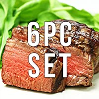 ミートガイ グラスフェッドビーフ 牛ヒレステーキ6枚セット (180g×6枚) (ギフト対応) Grass-fed Beef Filet Mignon Steaks Set (180g×6pc)