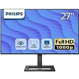PHILIPS 液晶ディスプレイ PCモニター 272E2FE/11 (27インチ/5年保証/FHD/IPS/D-sub 15,HDMI,Display Port/高さ調整/チルト/4面フレームレス/FreeSync(HDMI,DP)/ちらつき防止/