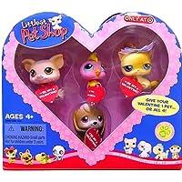 Littlest Pet Shop Valentine Exclusive Beagle Pig Birdie (Cockatoo) Kitty [並行輸入品]