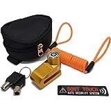GUYMU(ガイム) ディスクロック 4点セット (ディスクロック リマインダー 収納ポーチ セキュリティステッカー)
