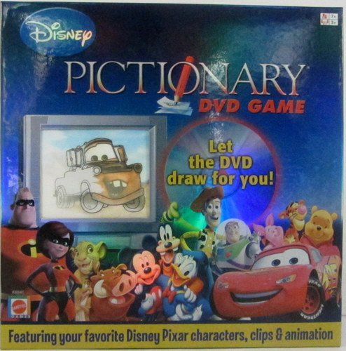 ディズニーピクショナリー (Disney Pictionary) DVD GAME Cars Toy Story Incredibles Lion King - Mattel By N/A [並行輸入品] ボードゲーム