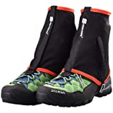 Yundxi Hiking Gaiters Waterproof Leg Gaiter Ankle Protection Anti-Tear Shoes Covers for Outdoor Climbing Walking Running