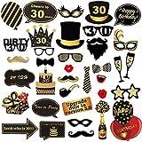 ToParty 30歳の誕生日 写真ブース小道具 30歳の誕生日パーティー用品 装飾や記念品