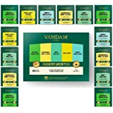 VAHDAM, Green Tea Sampler, 5 TEAS - Tea Variety Pack | Assorted Green Tea Bags | Organic Green Tea, Mint, Earl Grey, Chamomil