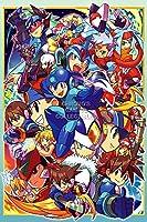 "CGC Hugeポスター光沢仕上げ–Mega Man Zeroすべてアート元Nintendo NES SNES GBA 123456Megaman Rockman–ext835 24"" x 36"" (61cm x 91.5cm)"