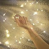 SimonJp イルミネーションライト ストリングライト LED 10m 電球数100 電池式 ワイヤーライト クリスマス パーティー 結婚式 誕生日 飾りライト スター 電飾 室内室外 防水 電球色 電池式