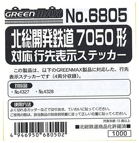 Nゲージ 6805 北総開発鉄道7050形対応 行先表示ステッカー