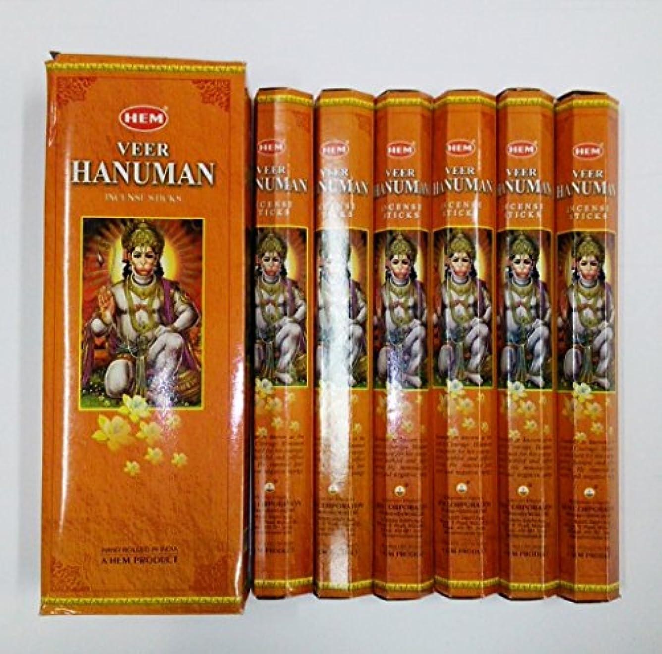 パワー恩赦補充HEM (ヘム) インセンス スティック へキサパック ハヌマーン ハヌマン香 6角(20本入)×6箱 [並行輸入品] Hanuman