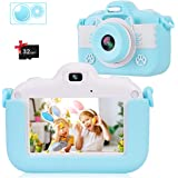 VICOODA Kids Camera, 3 Inch HD Touch Screen Digital Camera, Child Video Camcorder for 3-12 Year Old Boys Girls Toy Gifts, 108