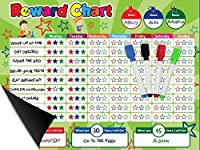 """Magnetic Behavior / Star / Reward Chore Chart,One or Multiple Kids,Toddlers,Teens 17"""" x 13"""",Premium Dry Erase Surface,Flexible Chart with Full Magnet Backing for Fridge,Teaches Responsibility! [並行輸入品]"""