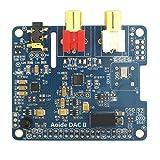 WINGONEER DAC IIハイファイサウンドカード| ES9018K2M | 384 kHz/32ビット| 高解像度| | DSDフォーマットをサポート| ラズベリーパイ3モデルB/3B/2B用
