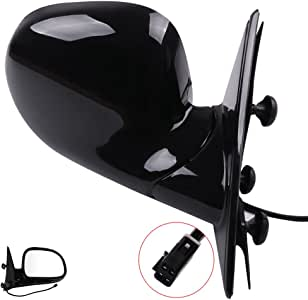 ECCPP ブラック パワーサイドビューミラー 助手席側 シボレーS10 GMC ジミー(助手席側(RH)用