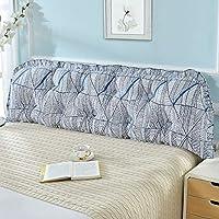 CAICOLOUR ヨーロッパスタイルの枕、大きな背もたれ付きダブルベッド、座敷ソフトバッグ (色 : Blue fascination, サイズ さいず : L-180cm)