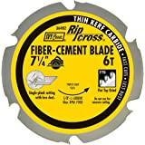 IVY Classic 36482 7-1/4-Inch 6 Tooth Fiber-Cement Cutting Carbide Circular Saw Blade with 5/8-Inch Diamond Knockout Arbor, 1/