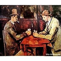 セザンヌ 「カルタ遊びをする人々」 原画同縮尺近似(6号) (世界の名画PREHARDデジタグラフ)C-X51ゴールド