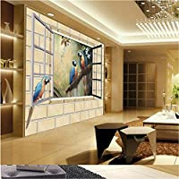 Sproud 大規模なカスタム壁紙 3D ホームデコレーション写真背景レストラン Windows オウムのリビングルームの壁の絵画 200 Cmx 140 Cm