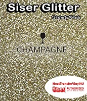 Siser Glitter Iron On Heat Transfer Vinyl 12 Inches (Champagne, 10 Yards)