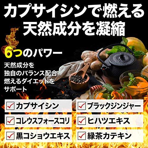 『DCF 燃焼 ダイエットサプリ カプサイシン カルニチン 温活 サプリメント 90粒 30日分』の2枚目の画像