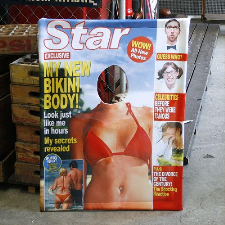 マガジンカバー<Star - Bikini Girl> 《顔ハメ看板?パーティグッズ》