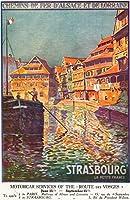 ストラスブール、フランス–View of a ManステアリングA Ship ;アルザスとロレーヌRailways 12 x 18 Art Print LANT-30404-12x18