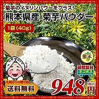 菊芋パウダー 40g×1袋 熊本県産菊芋使用 テレビや雑誌で話題 イヌリンパワーインスリン たけしの家庭の医学