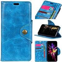 Huawei Honor View 20 フリップ カバー, シェル, MeetJP シェル カード スロット [立つ フィーチャー] レザー 財布 シェル ヴィンテージブック スタイル 磁気 保護 カバー ホルダー の Huawei Honor View 20 - Blue
