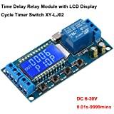 MakerHawk Time Delay Relay, 12V 5V USB Relay Module 6-30V Delay Controller Board Delay-Off Cycle Timer Control Switch with LC