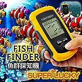 音波式 フィッシュファインダー ワカサギ釣り/イワシ釣り/バス釣り/ルアーにお勧め!携帯型魚群探知機 魚探 携帯探知機 ポータブル 釣り フィッシング