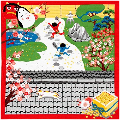 《DM便対応》 (キステ)Kisste 三毛猫みけのゆめ日記 小ふろしき 5-4-02167 2月・みけの節分