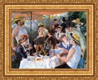 (v07–34–35) Pierre Auguste_ルノワール_ The Luncheon of the Boating Party_フレーム_キャンバス_ Giclee_プリント_ w29.5_ X h22 >[Small] #11-Gold V07-34K-MD535-01