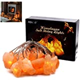 MINGRI Himalayan Salt Fairy Light Indoor Decorative Hanging Lights for Bedroom,Crystal Stones USB Natural Pink Salt Lamp for