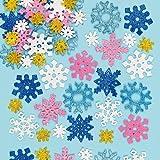 雪の結晶 キラキラ スポンジシール(120枚入り)子どもたちの冬やクリスマスのアートや工作に