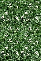 畳にタイルカーペット 手作り カーペットフランネル ラグ 3畳 40X60CM のどかな田園風の3D三次元の花緑の草は,海の葉機械織り洗濯機で洗える洗濯機で洗える