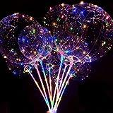 【PCATEC】光る風船 バルーン クリスマス 飾り LED風船 光るバルーン 光る気球 バルーン お祭りイベント パーティー ライブ 風船気球 LEDライトバー 発光ボール 結婚式 パーティーなどに飾り (10セット)