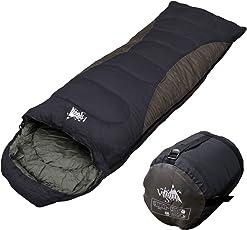 WhiteSeek 寝袋 シュラフ 封筒型 コンパクト収納 抗菌仕様タイプ【最低使用温度-7℃ 1500g】