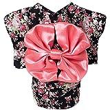 ゴシレ Gosear かわいい 日本 着物スタイル アパレル コスチューム ペットの服 ため 犬 子犬 猫 スカート ドレス 衣料品 ピンク 黑色 M
