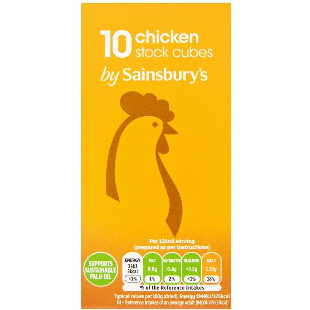 セインズベリー Sainsbury's Stock Cubes, Chicken 10x10g - Sainsbury's 在庫キューブ、チキン10X10G
