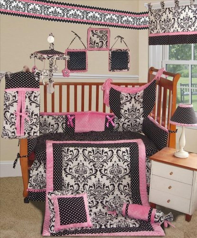 SISI Baby Bedding - Rose Damask 15 PCS Crib Bedding by Sisi