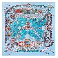 DOUGHNUT 女性の春と夏の日焼け止めシルクスカーフシーサイドツーリズムビーチタオル多目的ネッカチーフ柔らかいシルクシーサイド日焼け止めショール大固体ソフト快適なサテンのヘッドスカーフ (色 : 青, サイズ : 130X130CM)