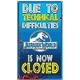 [ファクトリーエンターテイメント]Factory Entertainment Jurassic World Ride Closed Medium Metal Sign 408882 [並行輸入品]