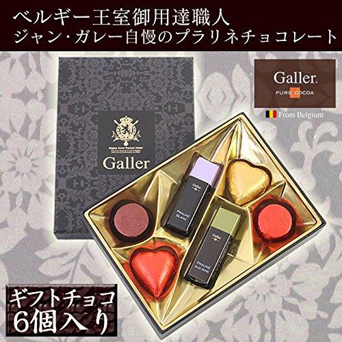 Galler ガレープチギフトチョコ6個入り☆ベルギー王室御用達職人自慢のプラリネチョコレート