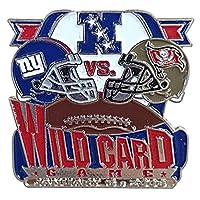 Pro Specialties Group スーパーボウルXLII ワイルドカード ジャイアンツ vs バッカニアーズ ピンバッジ NFL - [並行輸入品]