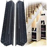 YENUO, Bottom Frame Drawer Slide from Soft Close Bottom/Bottom Install Drawer Slide Hidden Drawer Slide, Load 260 lbs (1 Pair