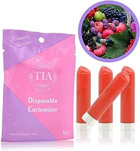 TIA ティア ビタミン入り 口紅型 電子タバコ 専用 フレーバーカートリッジ (スイートラブ)