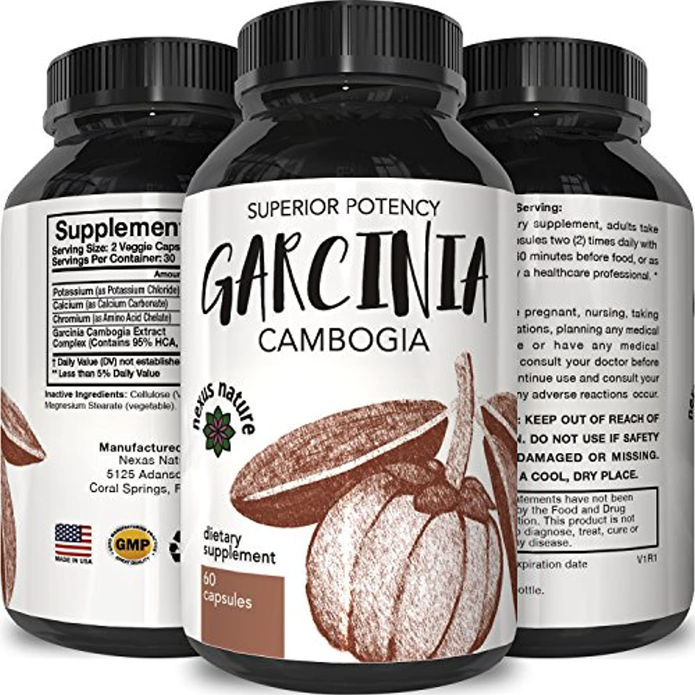 厚くするポテト太いNature's Design Garcinia Cambogia 60 caps CONTAINS 95% HCA
