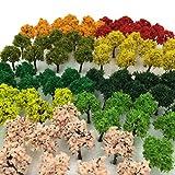 森林 選べる 色 数量 50本 100本 【DauStage】 Nゲージ ジオラマ 鉄道 建築 模型 用 樹木 風景 3㎝ 21 ミックス 90本