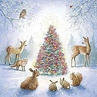 ZDDYX 全幅/ダイヤモンド5D DIYダイヤモンド塗装ツリー動物刺繍クロスステッチラインストーンation が付いている居間の家の装飾のクリスマスのギフト40X50CM