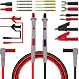 Blesiya 20 in 1 Electronic Test Leads Kit, Digital Multimeter Leads with Alligator Clips, Replaceable Probes Tips Accessories