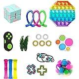 Fidget Pack, 21Pcs Fidget Toys Cheap Fidget Toys Set Sensory Fidget Toys for Kids Adults, ,Stress Relief and Anti-Anxiety Too